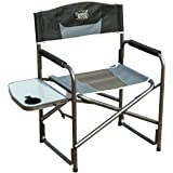 Timber Ridge Aluminum Portable Director's Folding Chair with Side Table Supports 300lbs