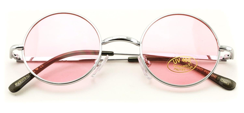 a482332eb9 Amazon.com  Small Round Hipster Fashion Sunglasses Lennon Elton Potter  (Blue)  Sports   Outdoors