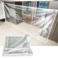 YYFANG Transparent Tarpaulin,0.3mm Transparent PVC Tarp, Plant Cover, Thickened Soft Glass Weather Resistant Tarpaulin…