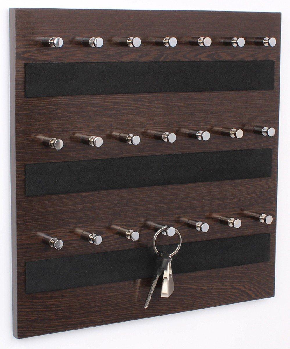 Bluewud Skywood Wall Mounted Key Chain Holder Board/Box (Wenge, 21 Keys)