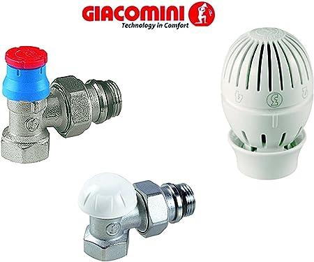 Kit Giacomini R470f Avec Tete Thermostatique Vauves Radiateur Vanne Et Vanne De Verrouillage 1 2 Angle Amazon Fr Bricolage