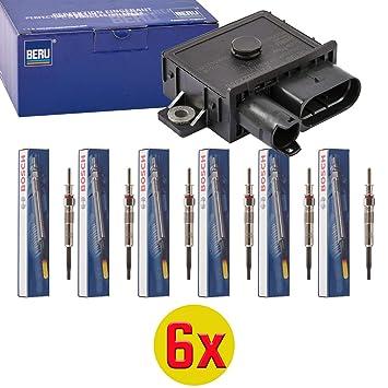 6 x Beru gse108 - Dispositivo de control, glühzeit + 6 x Bosch 0 250 402 002 - Bujía, Duraterm, Set: Amazon.es: Coche y moto