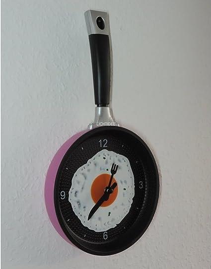 Reloj De Cocina Rosa Sartén con Huevo - divertido reloj de nuevo ...
