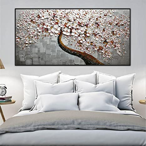 ZXP Malerei Der Modernen Kunst Handgemaltes ÖLgemäLde GlüCksbaum Auf Der  Leinwand Schlafzimmer Wohnzimmer Wand Hintergrund Dekoration Fresken  Drucken ...