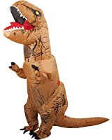 Qshine Halloween Inflatable T-Rex Dinosaur Dress Up Funny Simulation Luxury Cosplay Costume Suit