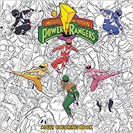 Mighty Morphin Power Rangers Adult Coloring Book: Hendry ...