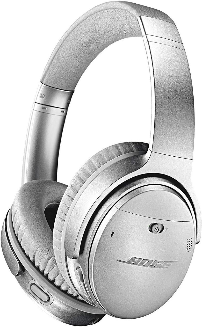 Bose QuietComfort 35 II - Auriculares inalámbricos (Bluetooth, cancelación de ruido) con Alexa integrada, Plata