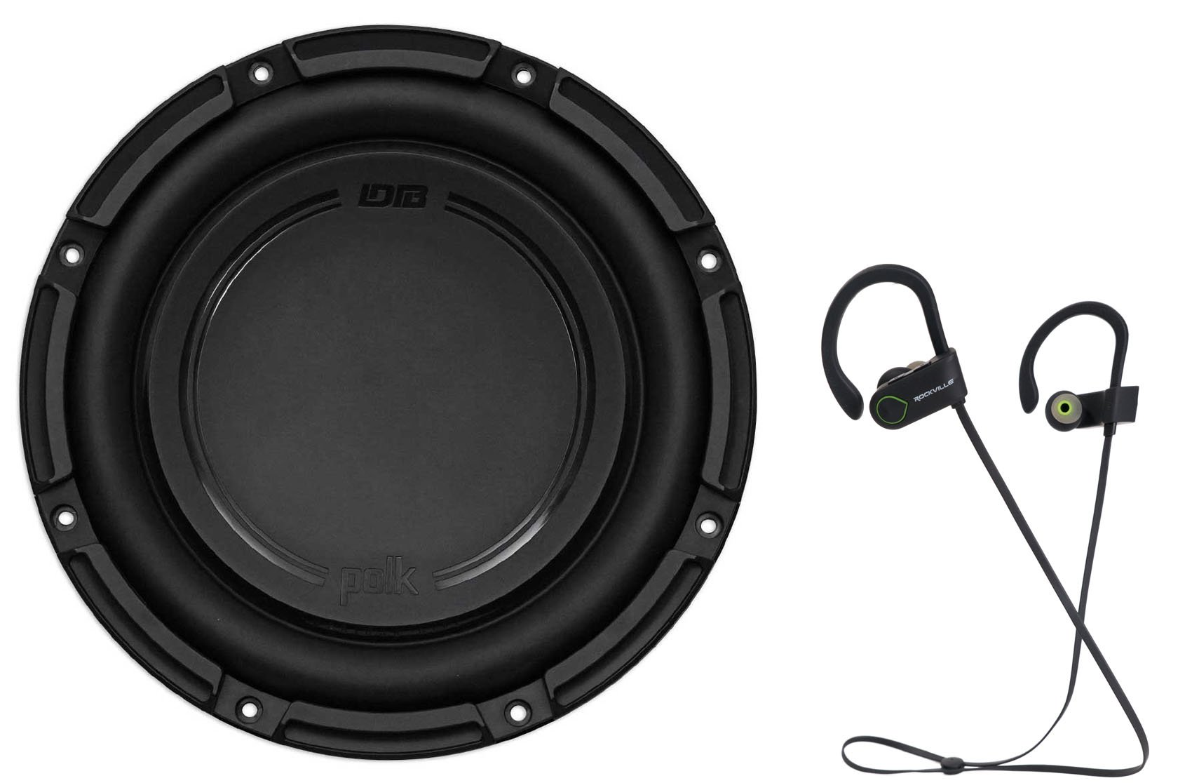 "Polk Audio DB1042SVC 10"" 1050 Watt Car/Marine Audio Subwoofer Sub+Free Speaker"