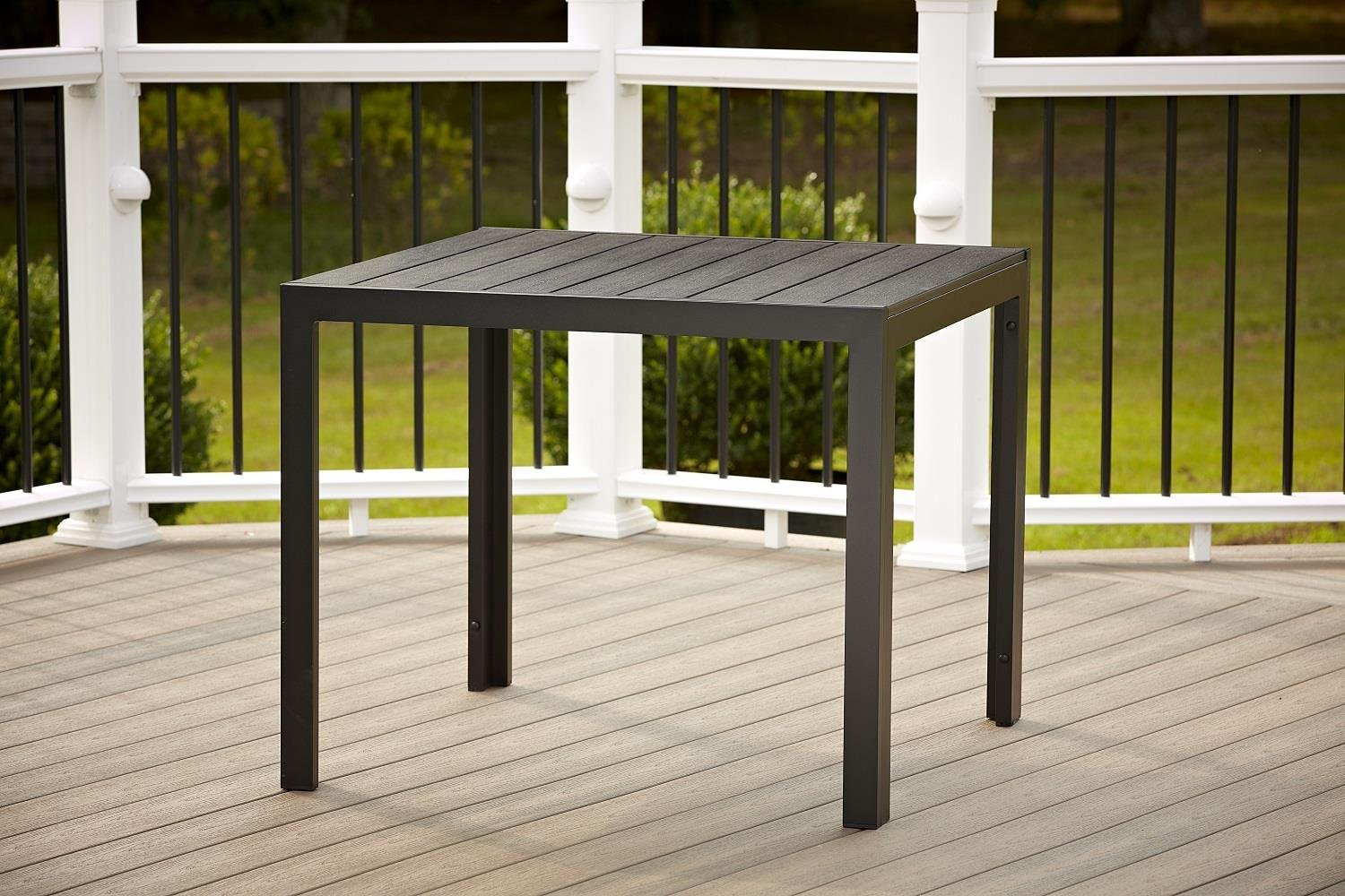 Cosco Outdoor Resin Slat, Square Dining Table, 35.4 by 35.4-Inch