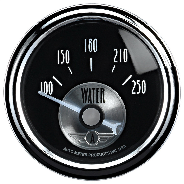 Auto Meter 2038 Prestige Black 2-1/16'' 100-250 Degree Water Temperature Gauge