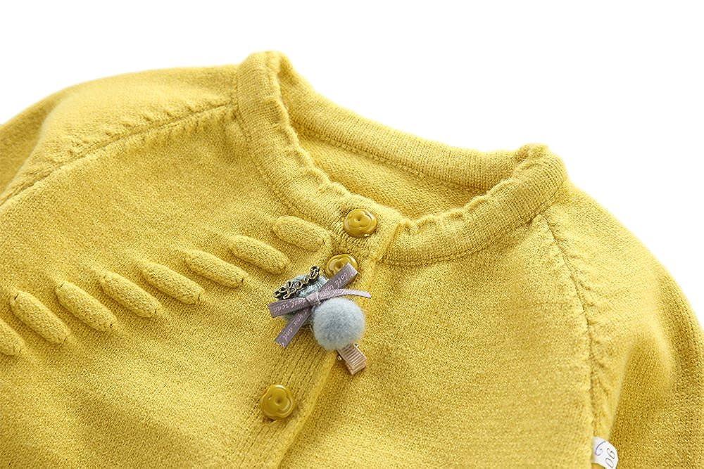 weiXuan Little Girls Basic Knit Cardigan Sweater Baby//Toddler