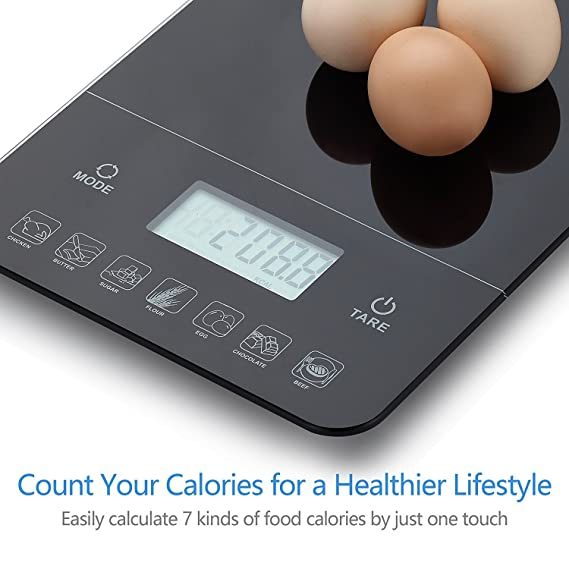 THEMIS?TMS1518 Nutritional Calculator Digital Multifunction Kitchen Food Scale, Calorie Calculation, Accurate Electronic Kitchen Scales 1g - 10kg / 0.05oz ...