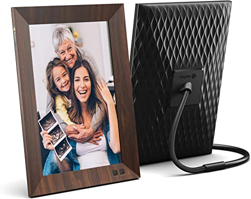 Nixplay Smart Digital Photo Frame 10.1 Inch Wood-Effect – Share Moments Instantly via EMail or App