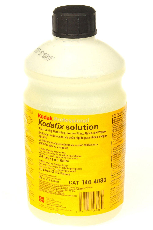 Kodak Kodafix Black & White Film and Paper Fixer with Hardener, Liquid, Makes 1 Gallon for Film, 2 Gallons for Paper. 1464080 KKKFXG