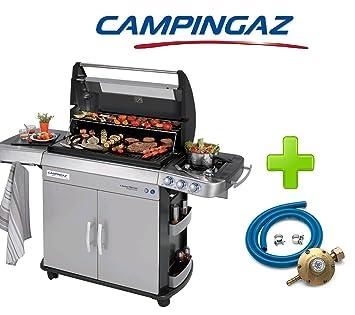 Barbacoa a gas GLP (bombole) Modelo Campingaz 4 Series RBS EXS con cúpula de