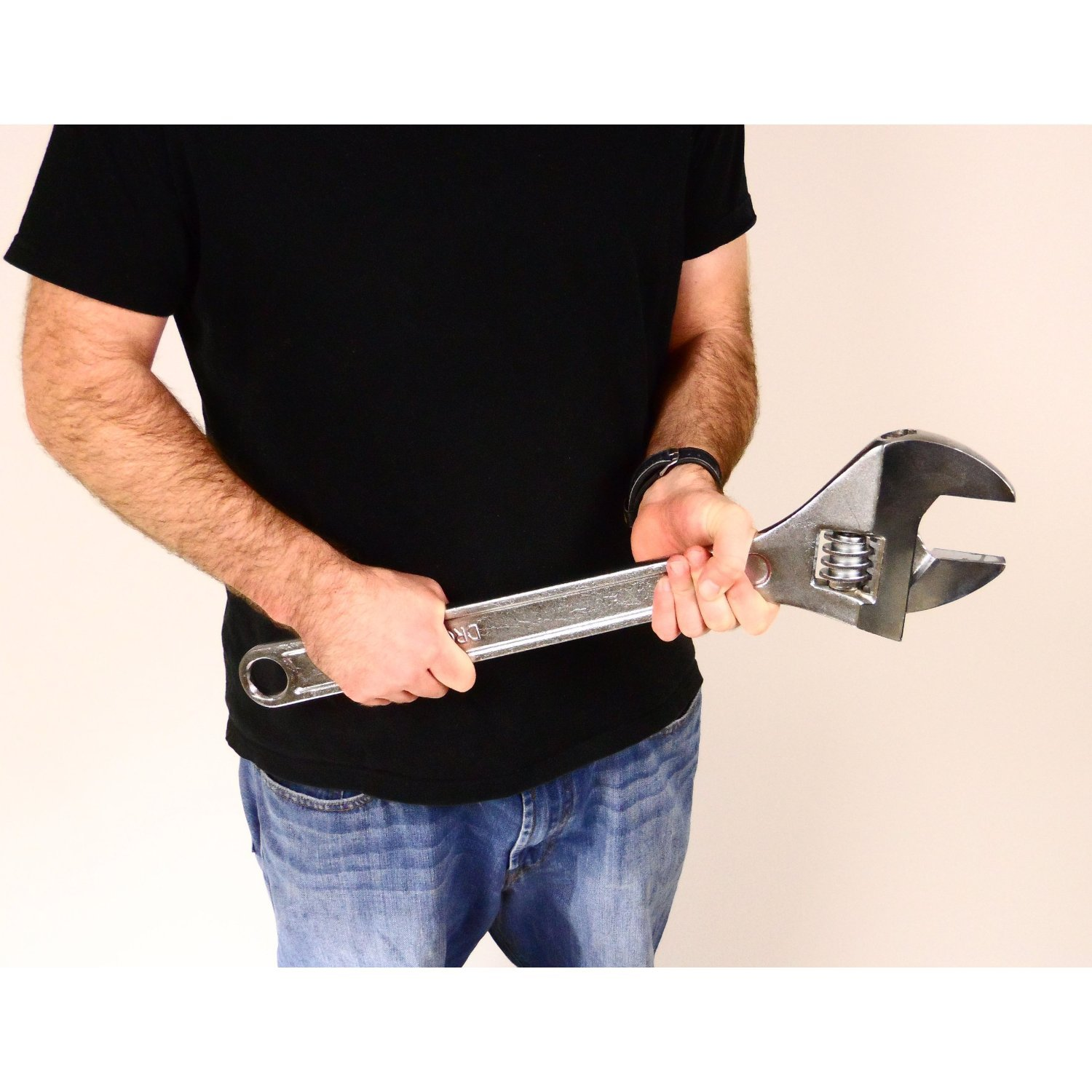 24-inch Drop Forged Steel Adjustable Wrench ,Extra Large Wrench
