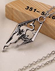 Skyrim Elder Scrolls Dragon Pendants Necklace