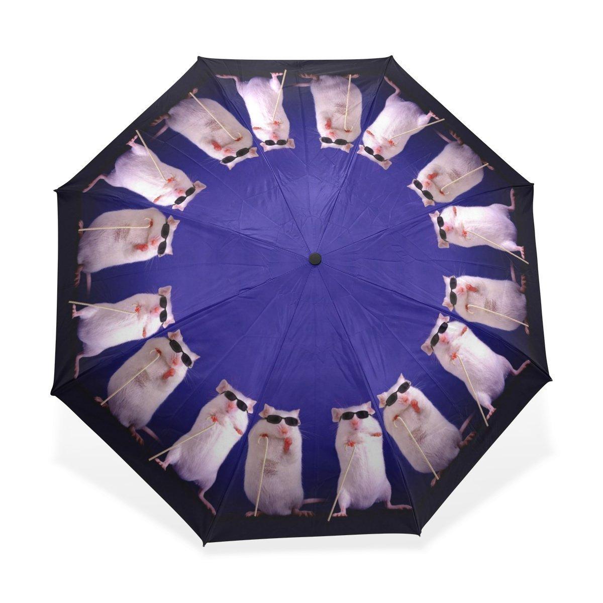 baihuishop防風ゴルフ傘、コンパクトで旅行for Easy Carryingスポーツ雨傘 – 強力なフレームUnbreakable Galaxyパターン   B01G6RPK5K