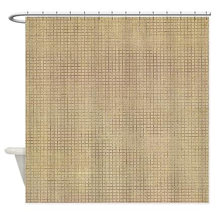 Amazon.com: CafePress - Faded Burlap Shower Curtain - Decorative ...