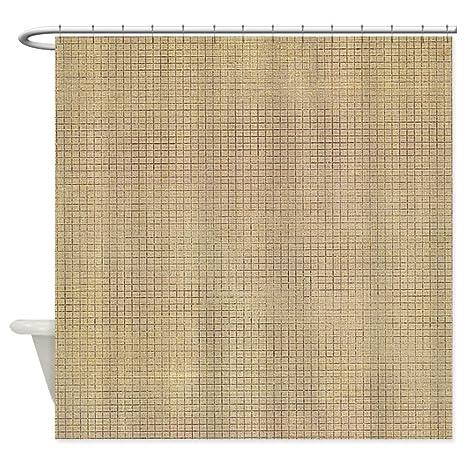 CafePress Faded Burlap Shower Curtain Decorative Fabric 69quot