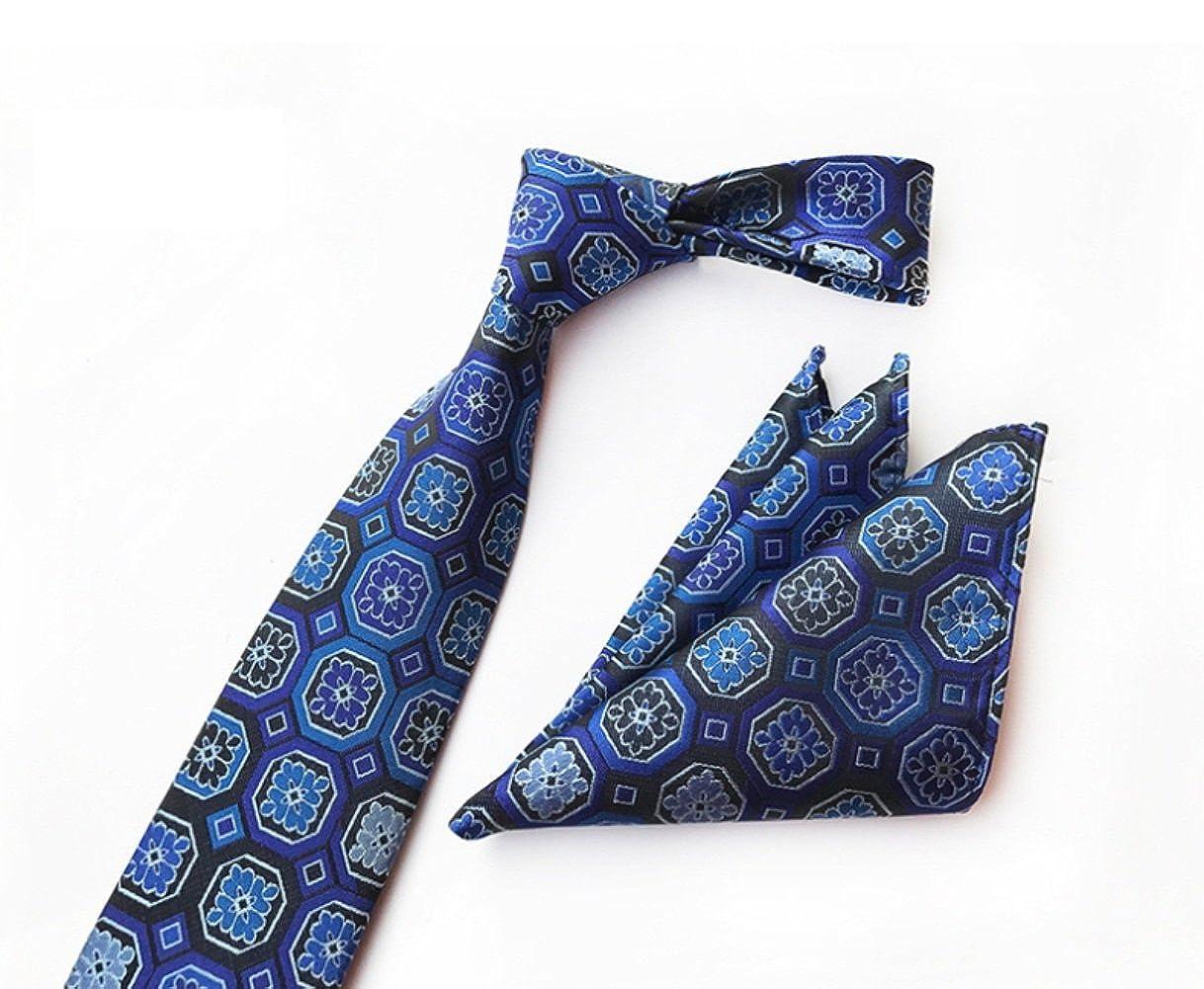 FlowerKui Conjunto de corbata de flores de tartán clásico para ...