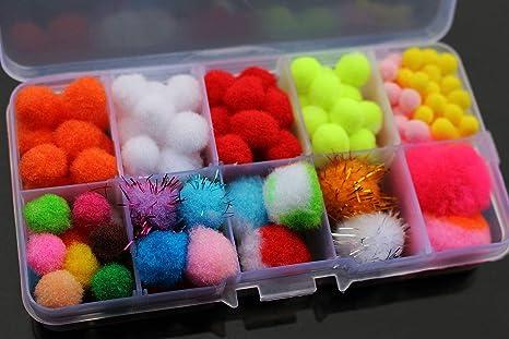 100 huevos surtidos para pesca con mosca en caja: Amazon.es: Deportes y aire libre