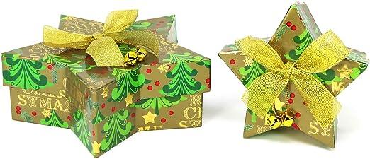 com-four® 2X Caja de Regalo para Navidad, Caja pequeña y Grande ...