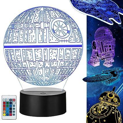 Star Wars 3D Lampe Geschenke, 5 Stück Star Wars 3D Nachtlicht ...