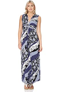 abaf25145b Roman Originals Womens Floral Paisley Print Maxi Dress - Ladies Patchwork  Holiday Summer Boho Dresses -
