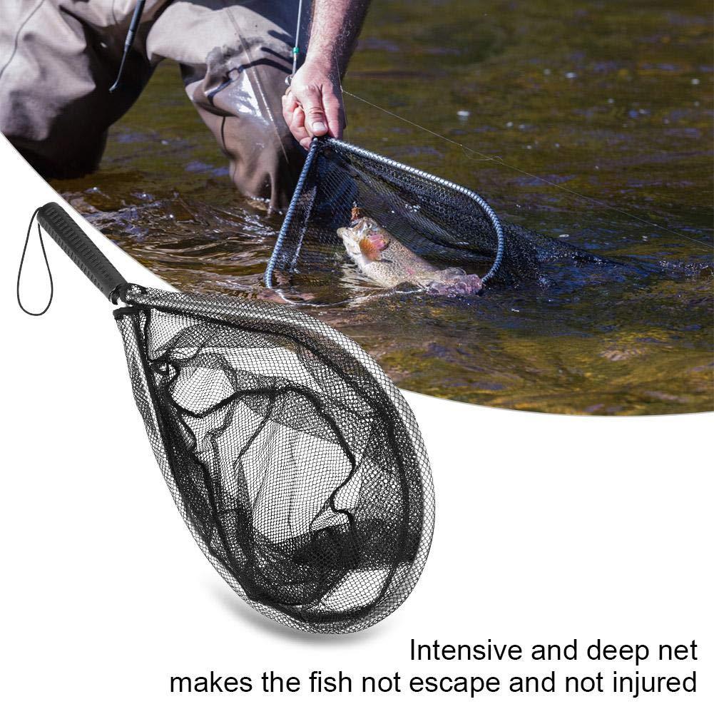 Telaio in Lega di Alluminio Telaio da Pesca a Mosca Durevole Rete da Pesca Pieghevole da Pesce con Manico telescopico Estensibile Accessorio per Maniglie Alomejor Rete da guadino da Pesca