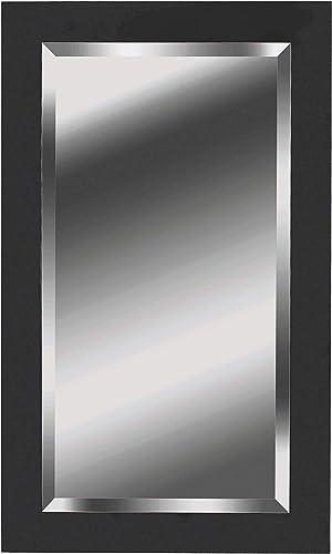 Kenroy Home Ice Mirrors, Medium, Matte Black Wood Finish