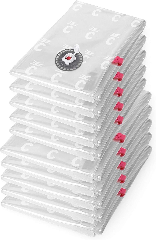 Lot de 2 Sacs de Compression Sous Vide Extra Plat 2 Tailles S et M Réutilisable