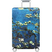"""TRAVELKIN Thickened Luggage Cover 18/24/28/32 Inch Suitcase Spandex Protective Cover (S(18""""-21""""luggage), Almond Blossom)"""