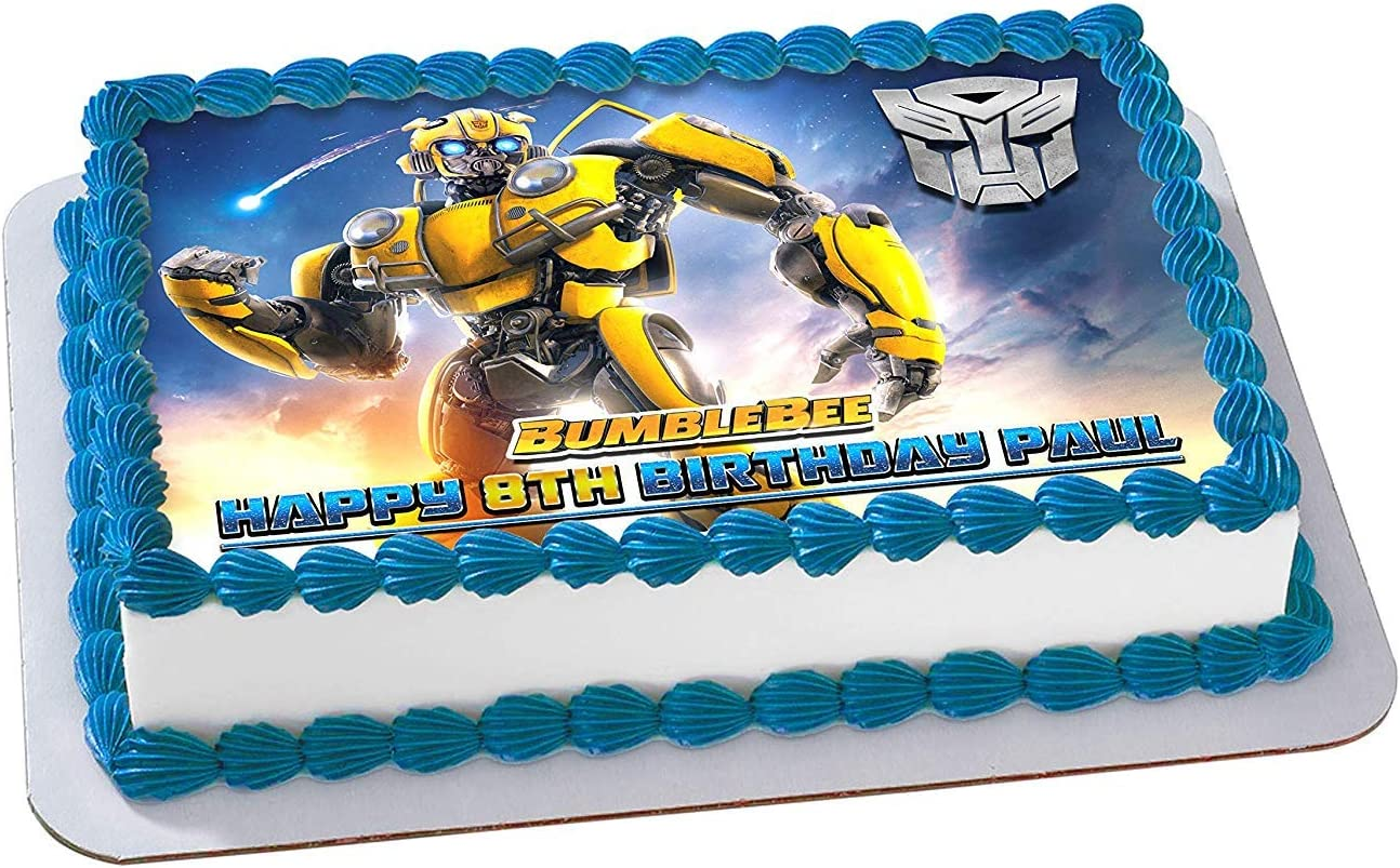 Remarkable Amazon Com Bumblebee 2019 Transformers Edible Cake Image Topper Funny Birthday Cards Online Inifofree Goldxyz