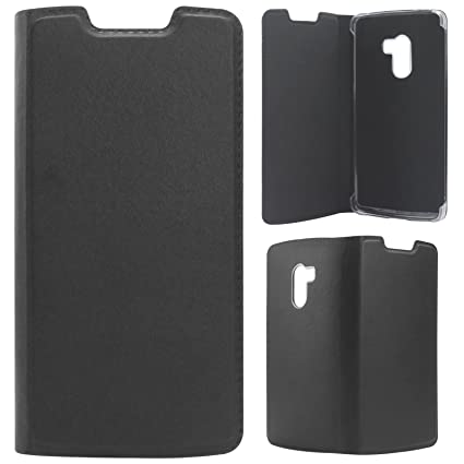 finest selection d404f 7de84 DMG Dotted Finish PU Leather Flip Cover Case for Lenovo Vibe K4 Note (Black)