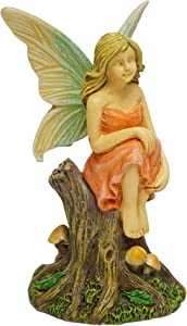 Marshall Home and Garden Reflective Fairy Forest Brown 4 Inch Resin Stone Outdoor Statue