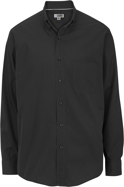 Big and Tall Long Sleeved Twill Shirts LT-6XT 2XB-6XB Black