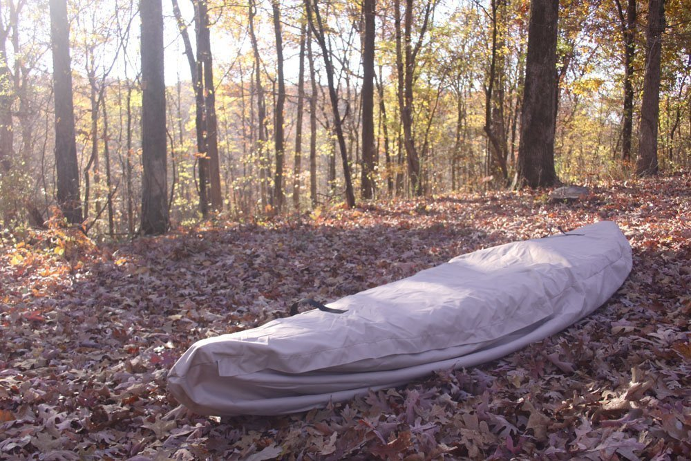 VORTEX TAN 11', 11.5', 12', 12.5', 13, 'WATERGUARD' HEAVY DUTY WATERPROOF CANOE/KAYAK COVER, FOR UP TO 13' LONG, AND FOR UP TO 8 ' GIRTH (FAST SHIPPING - 1 TO 4 BUSINESS DAY DELIVERY)