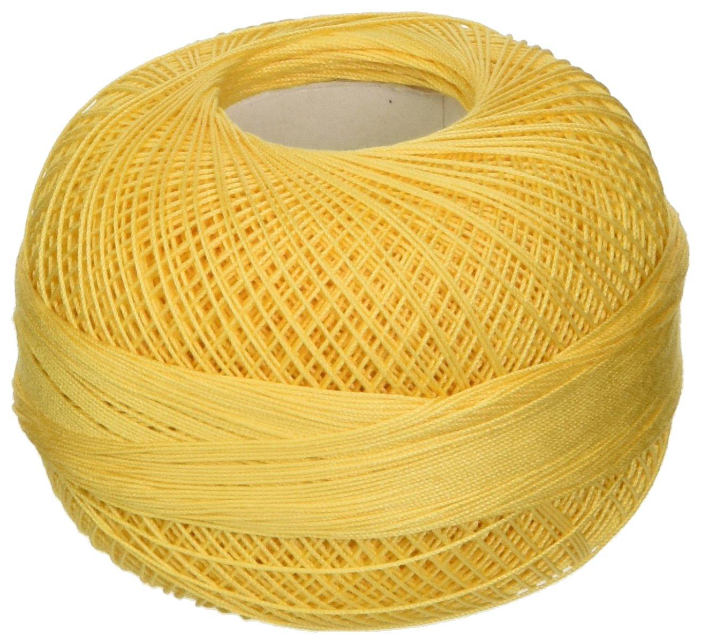 Handy Hands Lizbeth Premium Cotton Thread, Medium, Golden Yellow Inc. HH40613