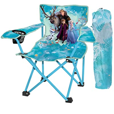 Danawares Disney Frozen II Kid's Folding Camp Chair with Cup Holder: Toys & Games