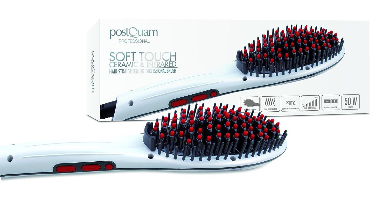Cepillo alisador cerámico e infrarrojo para el pelo 50W, Blanco y rojo - Postquam: Amazon.es: Belleza