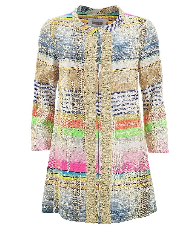 RIANI farbenfroher Mantel aus Baumwollmix-Tweed