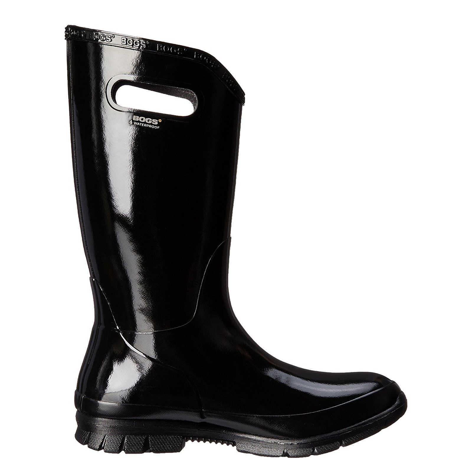 Bogs Women's Berkley Rain Boot, Black, 10 M US