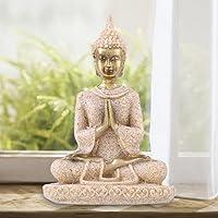 1PC Meditative sentado estatua de Buda arenisca Decoración