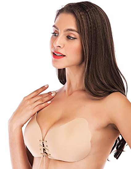2cc396c4ea5 Thinksea Strapless Sticky Bra Backless Self Adhesive Invisible Push up  Reusable Bras 10 Sizes (AA Cup  30A 32A