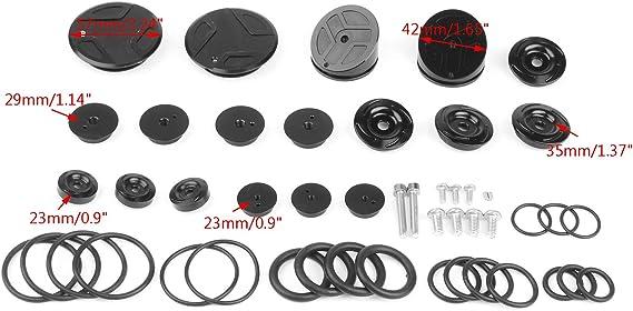 Upper Frame Plugs Cap Cover Set Red CNC Aluminum For BMW R1200GS ADV LC 14-18 U3