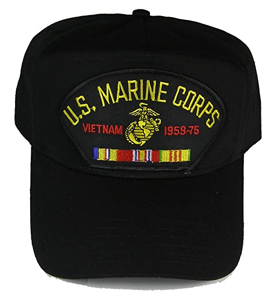 747afa8b642 U S MARINE CORPS VIETNAM 1959-75 with COMBAT ACTION and SERVICE VIETNAM  RIBBONS HAT -