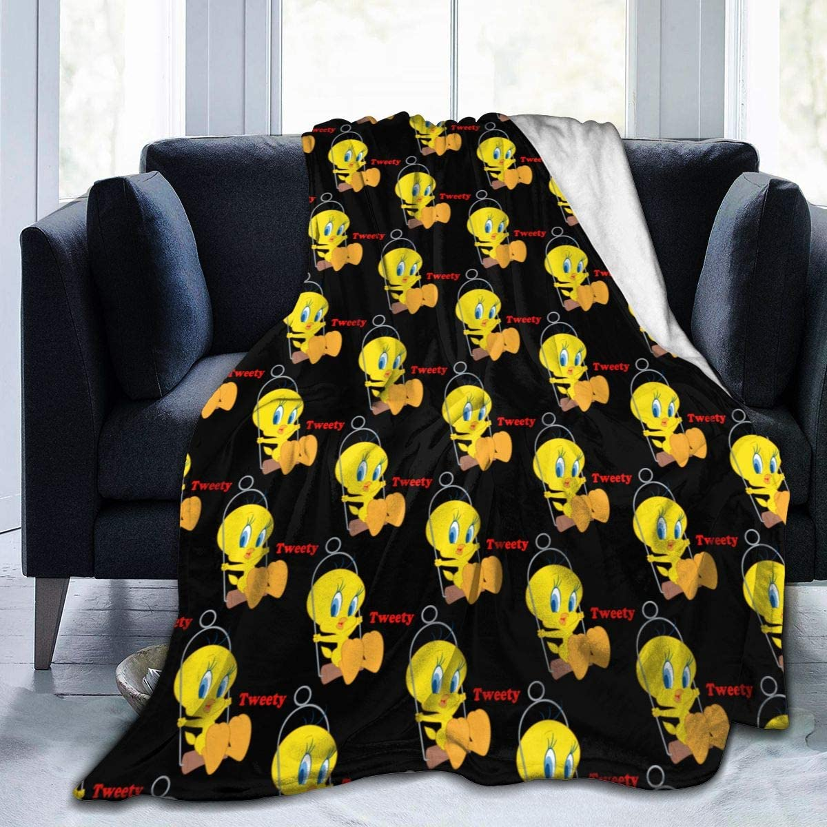 Tweety Bird Flannel Fleece Throw