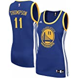 adidas Klay Thompson Golden State Warriors Womens Replica Blue Jersey (Small)