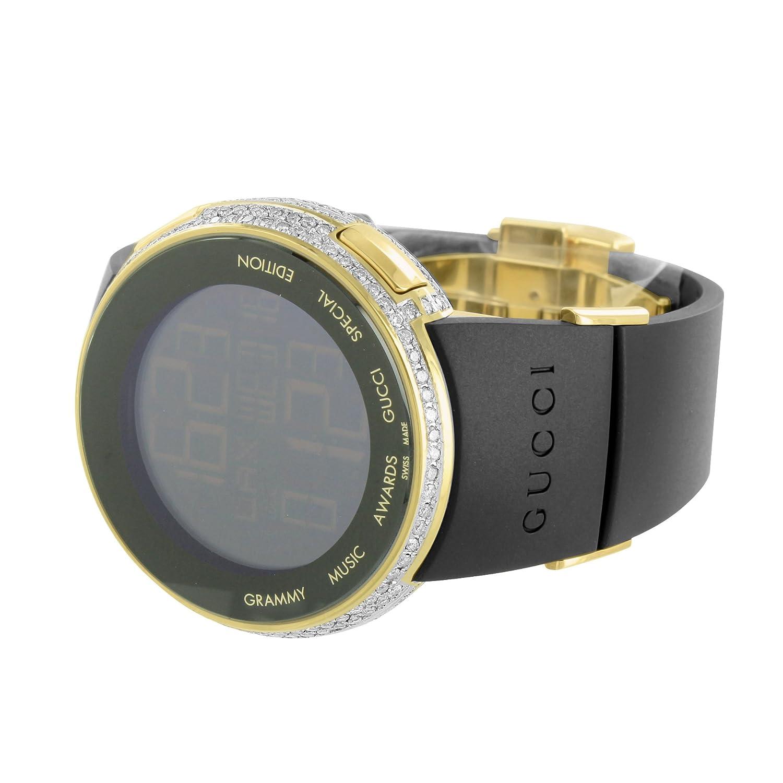 I GUCCI YA114215 Diamond Reloj Oro Acabado Grammy Awards Edition Digital hombres nuevo: Amazon.es: Relojes